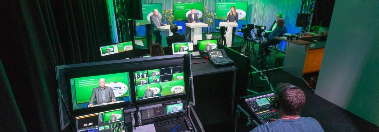 Online Ledenvergadering vanuit de webinar studio